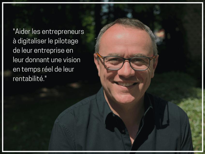 Portrait d'entrepreneur de Christian Huver, co-fondateur de My-Saam Vision