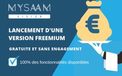 Lancement d'une version My-Saam Vision freemium : gratuite et sans engagement !