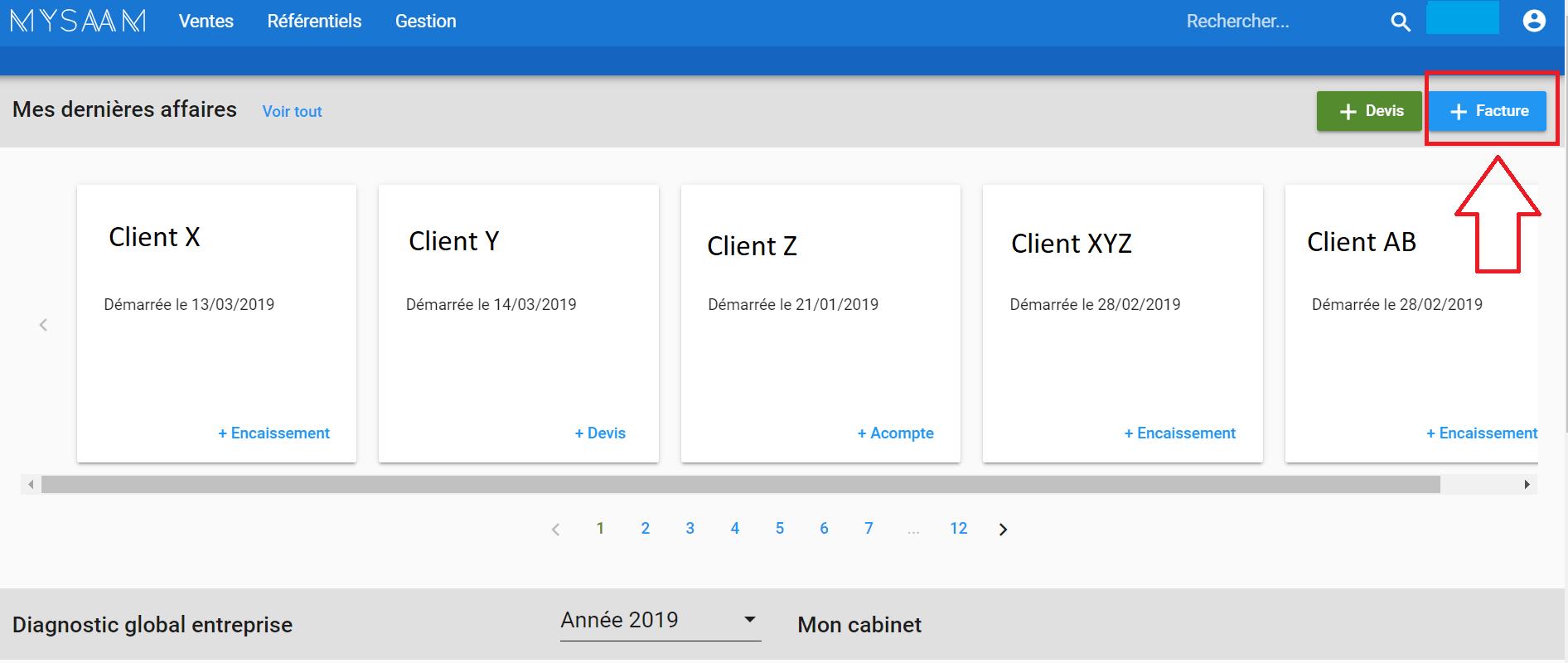 Créer une facture en ligne