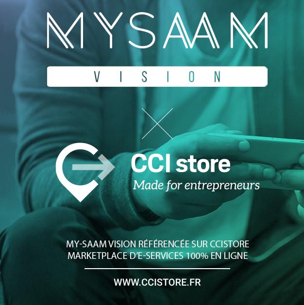 CCI Store référence My-Saam Vision sur sa marketplace E-Services